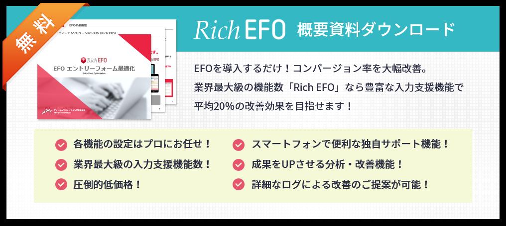 Rich EFO 概要資料ダウンロード